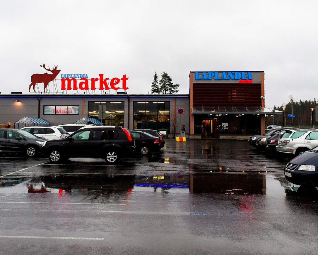 This Nov. 19, 2013 file photo shows Laplandia Market near the Vaalimaa Finland-Russia border crossing point in Lappeenranta, Finland. The rare closure of Finland's border with Russia amid the COVID-19 pandemic has hit hard the Nordic nation's South Karelia border region, putting an abrupt stop to visits by nearly two million Russian tourists to the area annually and depriving local businesses and entrepreneurs millions of euros every month.