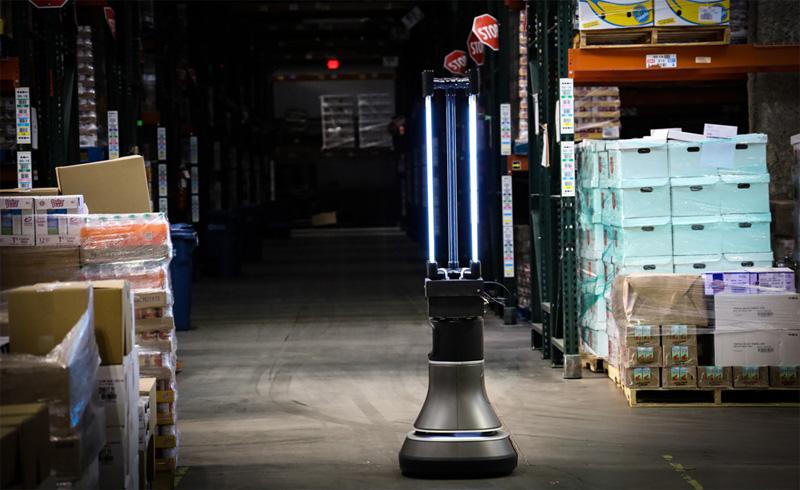 warehouse robot uv light viruses