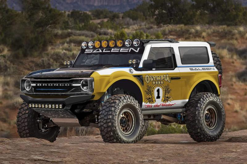 Saleen 'Big Oly' 2021 Ford Bronco  off-roading Suvs American Muscle 4x4 Steve Saleen beer olympia Beer Washington