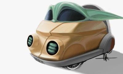 hot wheels mandalorian car child baby yoda mattel comic con star wars disney 2020 at home