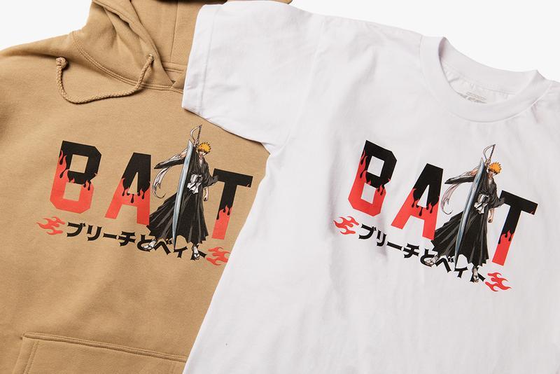 BAIT x 'Bleach' Capsule Collection Lookbook manga tite Kubo anime bankai soul society Ichigo Quincy Japan