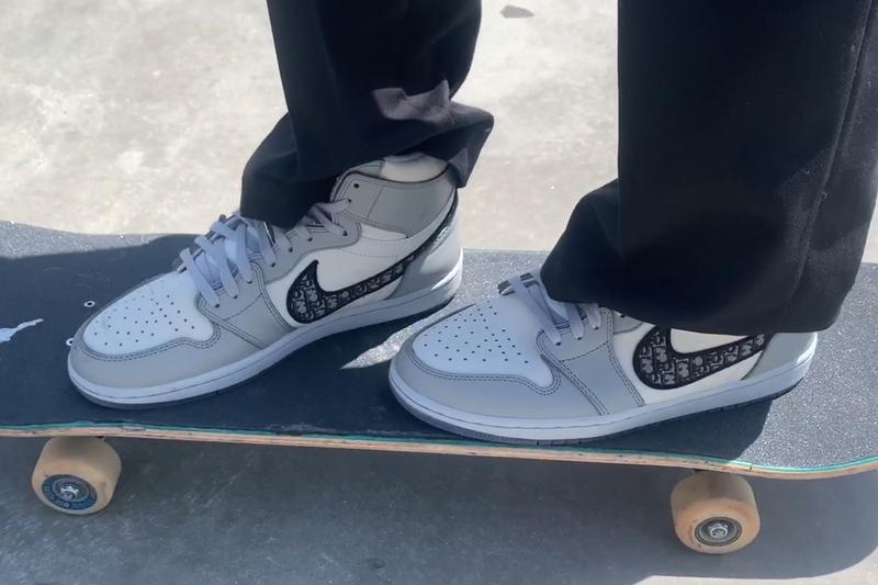 Erik Arteaga Skates Dior Air Jordan 1 High OG Kim Jones Video Burberry.erry