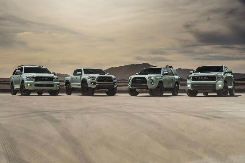 "Toyota Unveils Its ""Lunar Rock"" TRD Pro Exclusive Color Option 4Runner Tacoma Tundra Sequoia suvs off-road"