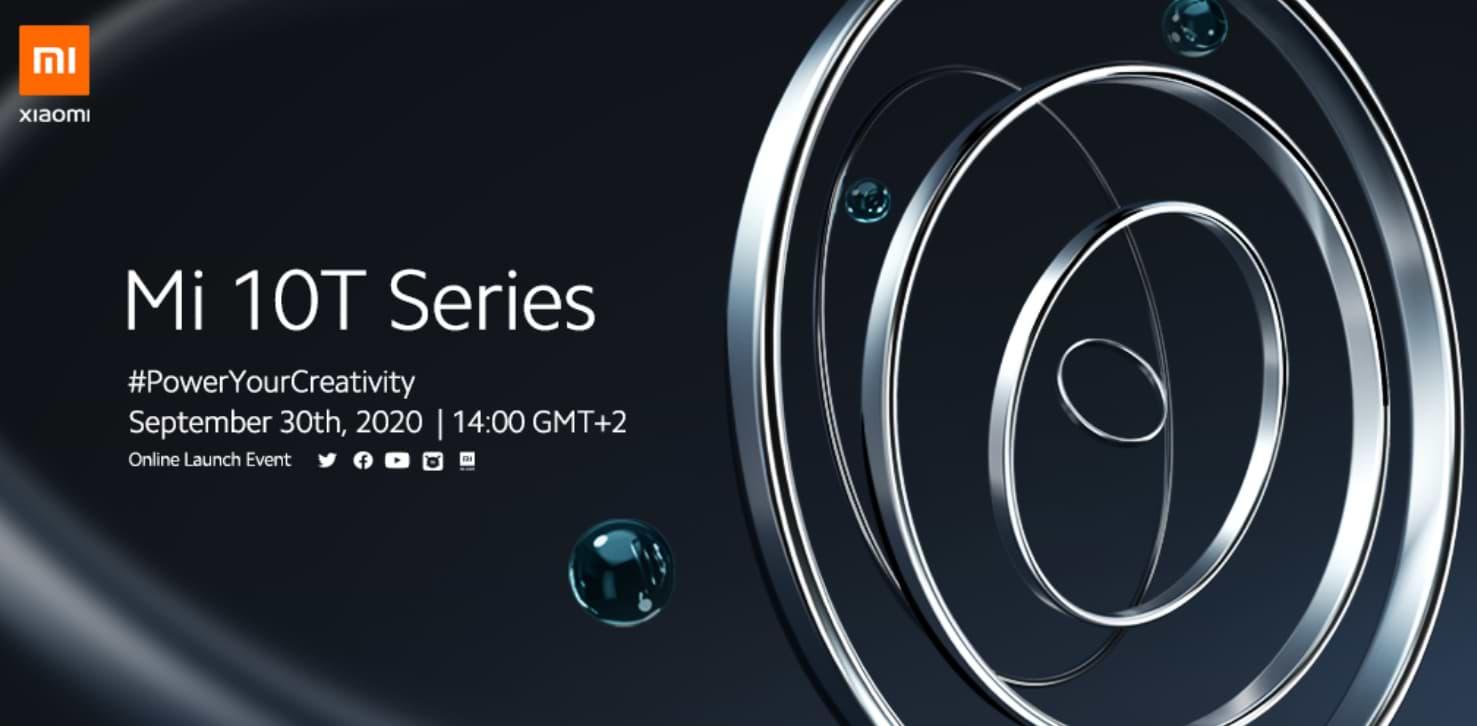 La serie Xiaomi Mi 10T se lanzará el 30 de septiembre