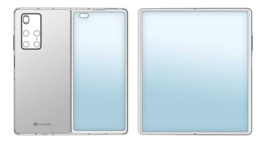 La supuesta patente de HUAWEI Mate X2 revela un diseño que imita al Samsung Galaxy Z Fold2