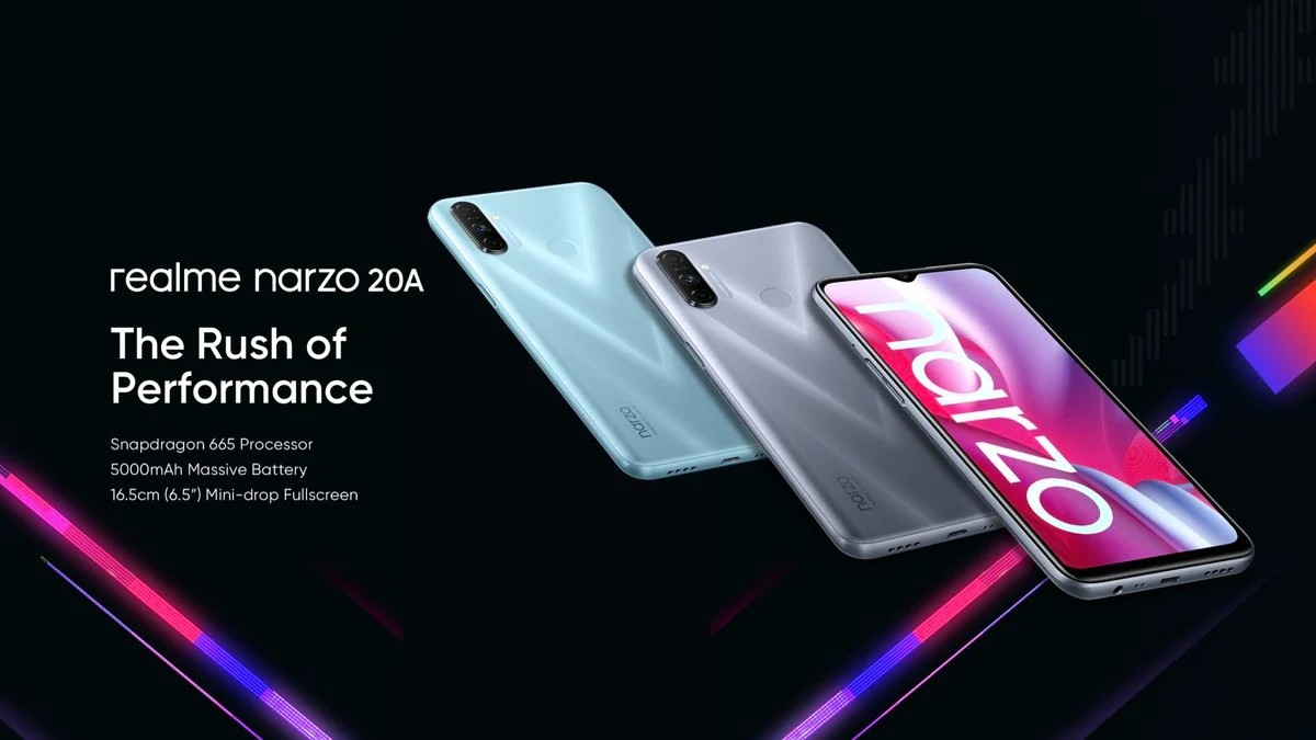 Realme Narzo 20, Narzo 20A debutan en India; el precio comienza en Rs 8,499 ($115)