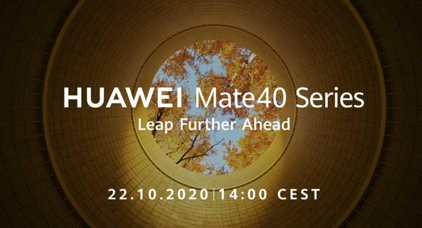 Huawei anunciará la presencia de la Serie Mate 40 el 22 de octubre