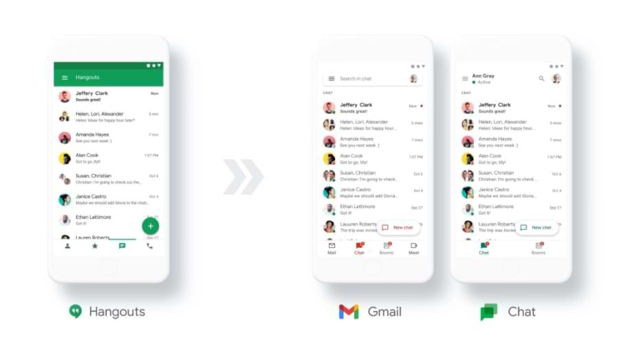 La aplicación de chat de Google será gratuita a partir de 2021