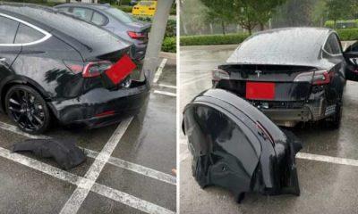 Tesla la lluvia puede hacer que los parachoques del Model 3 se desprendan