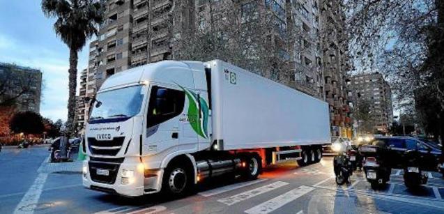 Mercadona truck.