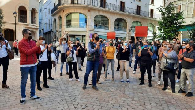 Protest in Manacor, Mallorca against lockdown