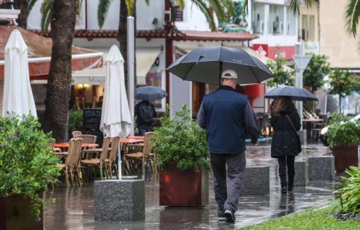 Rainy weather in Mallorca
