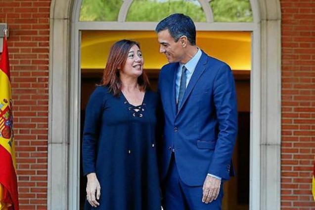 Francina Armengol, President of the Balearic Government & Pedro Sánchez, Spanish Prime Minister.