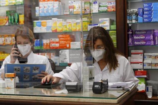 Pharmacists in Palma.