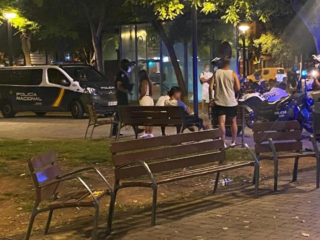 Police operation in Palma, Mallorca