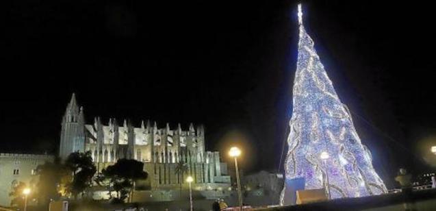 Christmas lights in Palma.
