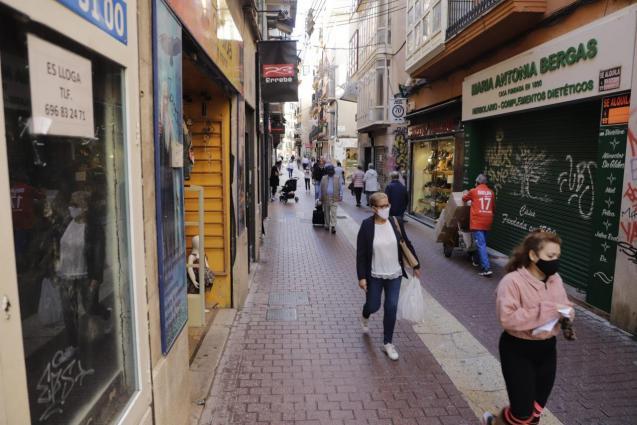 People in street in Palma Mallorca