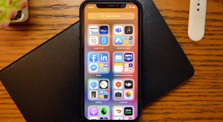 Cómo usar la biblioteca de aplicaciones en iPhone