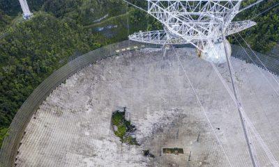 Destrozado: el famoso telescopio Arecibo de Puerto Rico se derrumba