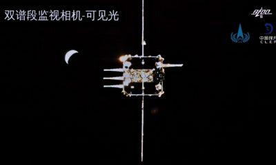 China completa su primer atraque en órbita lunar