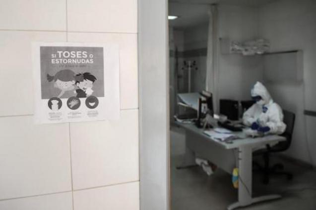 Healthcare worker at Son Espases Hospital in Palma.