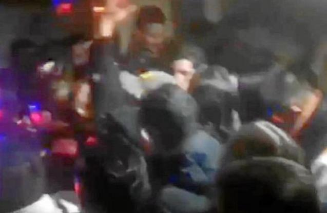 People dancing in Palma club.