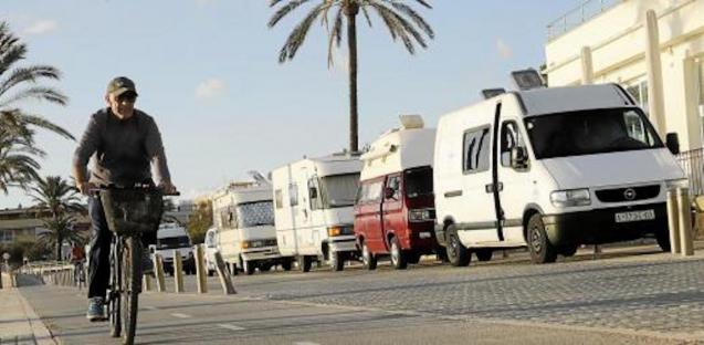 Motorhomes in Mallorca.