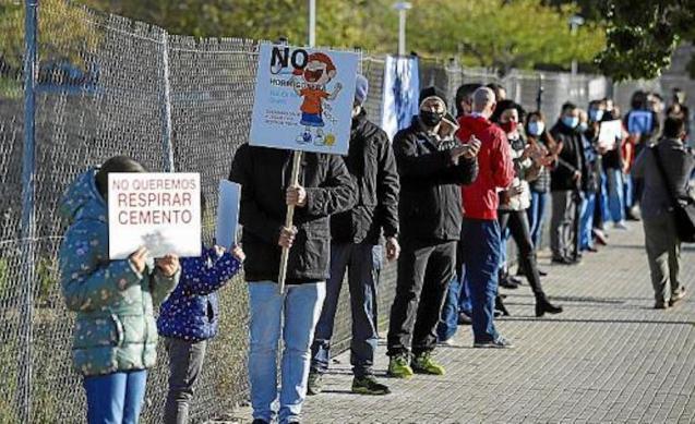 Palma protest.