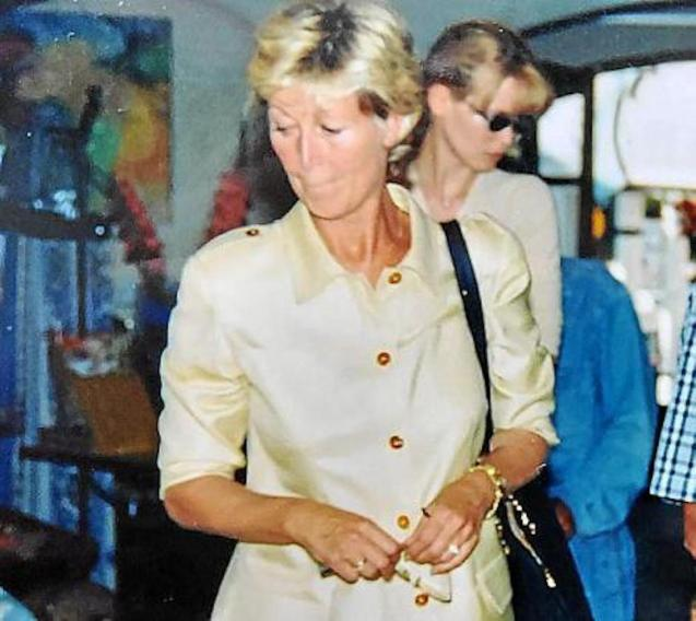 Claudia Schiffer with her Mum, Gudrun in Mallorca.
