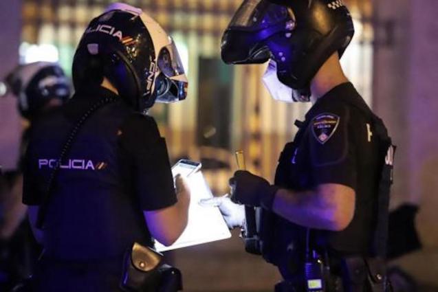 Police in Palma.