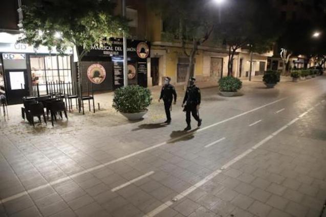 Mallorca under curfew.