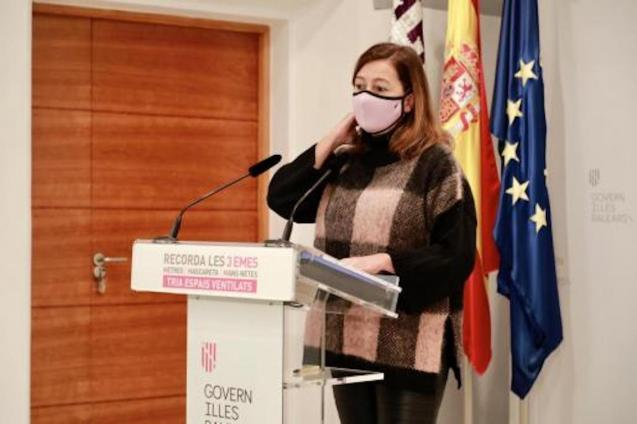 Francina Armengol, President of the Balearic Government.
