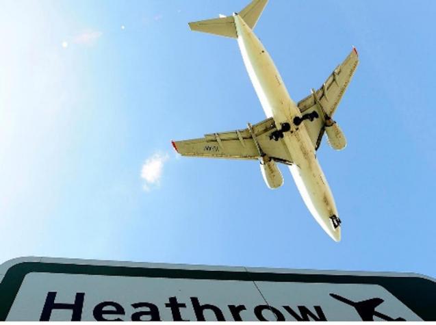 Heathrow Airport, London.