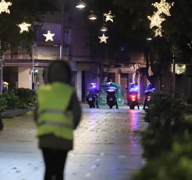 Curfew in Palma.