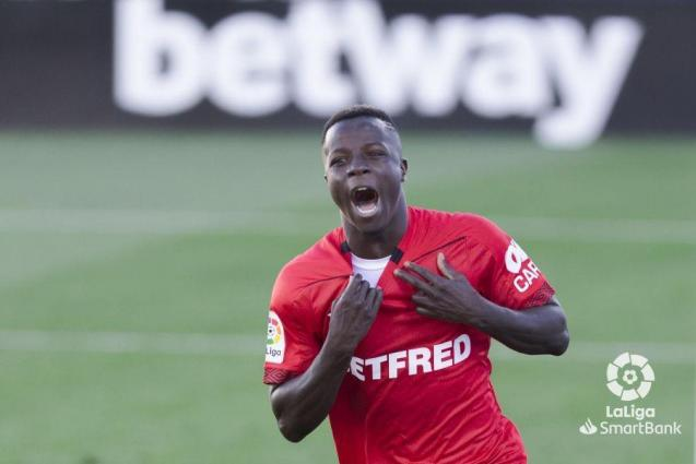 Amath Ndiaye of Real Mallorca after scoring against Leganés