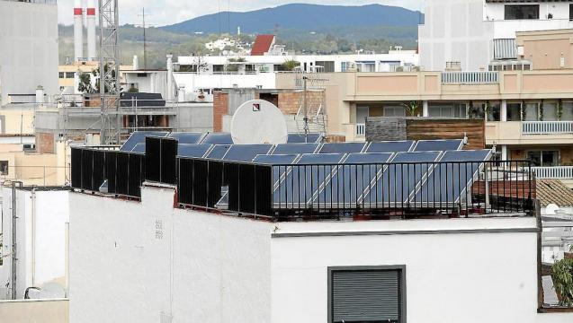 Solar panels in Mallorca.