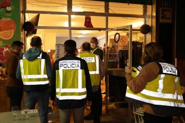 Police raids in Palma.