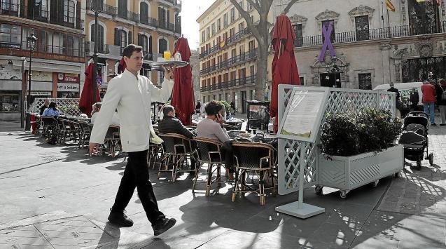 Bar terrace in Palma, Mallorca