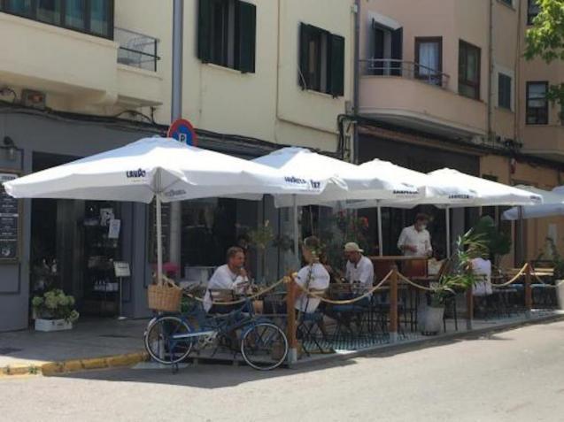 Restaurant terrace in Palma.