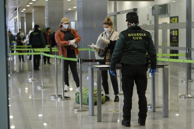 Passenger control at Mahon Airport, Menorca