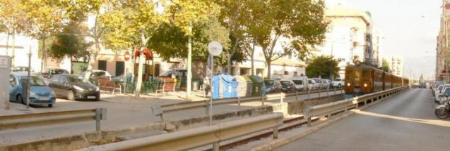 Soller train track in Palma, Mallorca