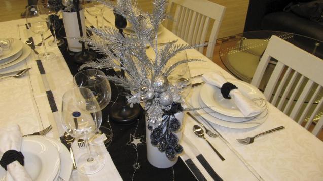 Christmas meal table
