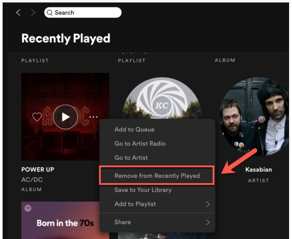Cómo borrar tu lista de reproducidos recientemente en Spotify