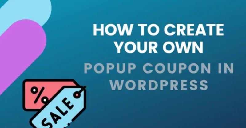 Cómo crear su propia ventana emergente de cupones en WordPress