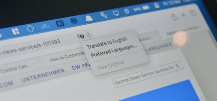 Cómo traducir páginas web en Safari en Mac