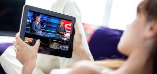 Sling TV free trial - Sling TV on tablet