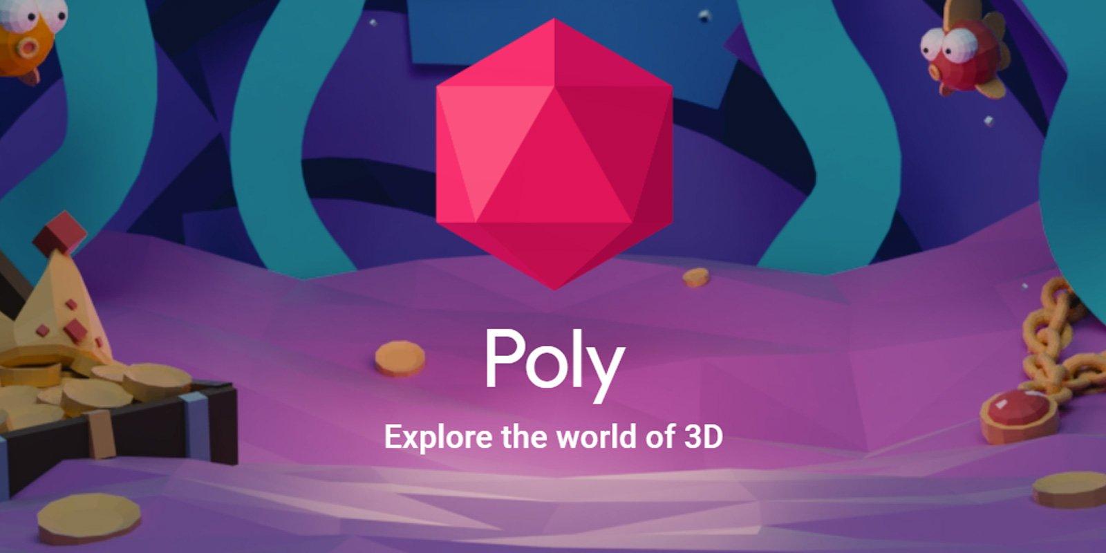 Google está cerrando el sitio de modelos 3D Poly para centrarse en las experiencias de RA
