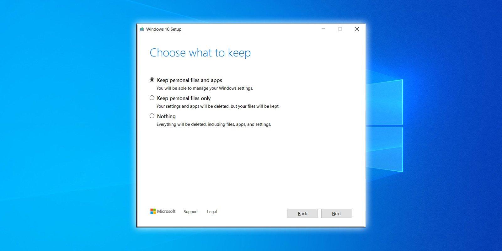 La actualización de Windows 10 20H2 corrige la función de actualización in situ rota