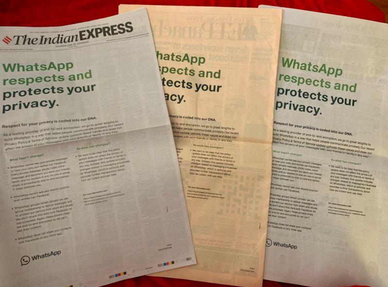 WhatsApp está cada vez más ansioso por que lo deje el usuario, ahora se anuncia en los periódicos
