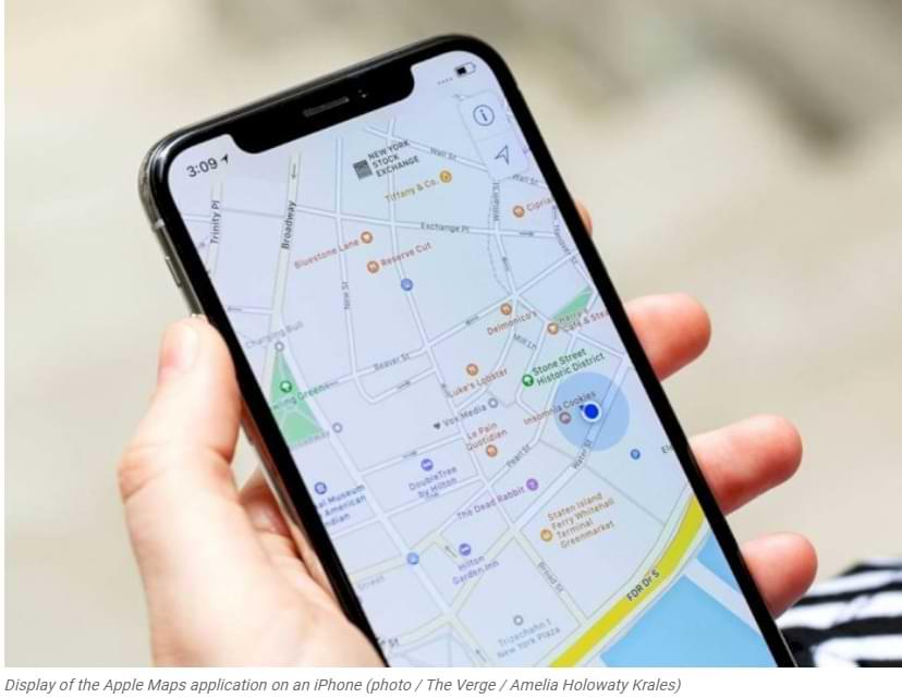 La última actualización de Apple Maps permite a los usuarios informar accidentes